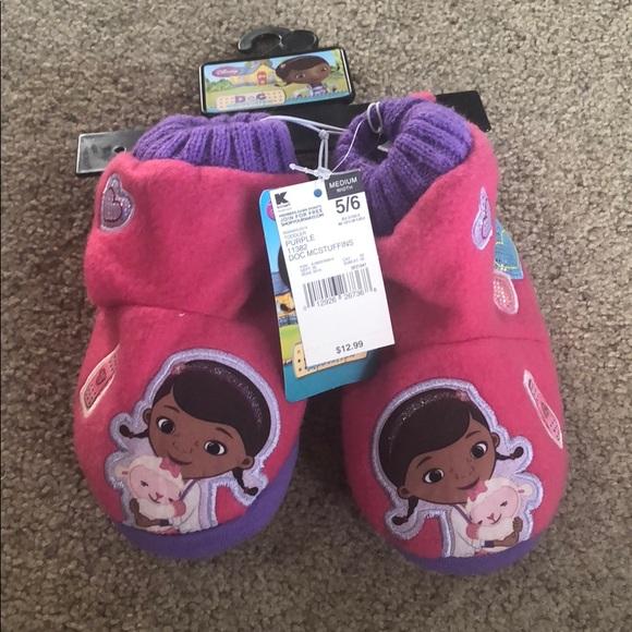 Girls Purple//Pink Doc Mcstuffins House Slippers Doc Daisy